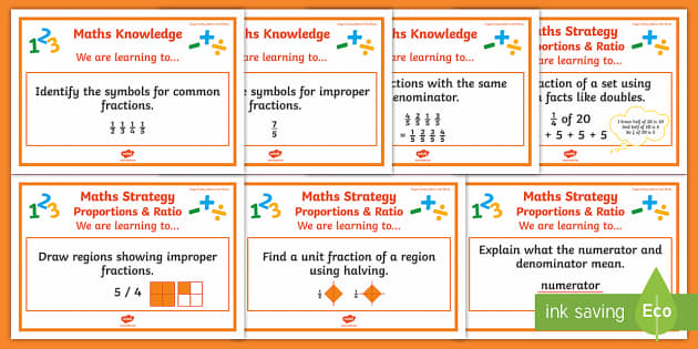 Ratio/Proportion Stage 5 WALT Display Posters - WALT cards for NZ Mathematics, fractions, ratio and proportions, stage 5, nz maths, numeracy project