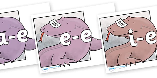 Modifying E Letters on Komodo Dragon to Support Teaching on The Great Pet Sale - Modifying E, letters, modify, Phase 5, Phase five, alternative spellings for phonemes, DfES letters and Sounds