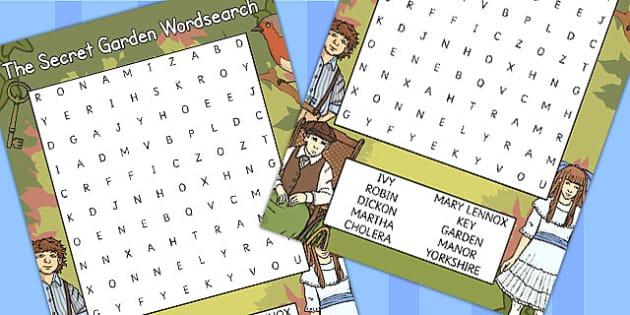 The Secret Garden Wordsearch - wordsearch, secret garden, game