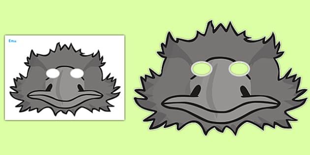 Emu Role Play Masks