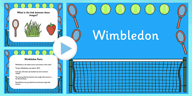 Wimbledon PowerPoint - wimbledon, wimbledon 2013, wimbledon slideshow, wimbledon information powerpoint, wimbledon tournament powerpoint