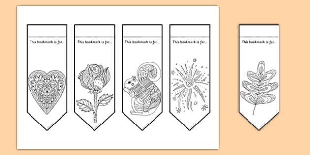 Mindfulness Colouring Bookmarks - mindfulness, colouring, bookmarks, colour