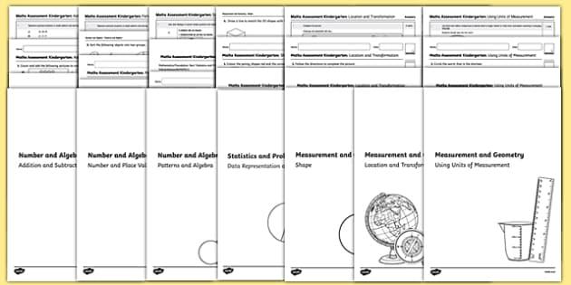 Kindergarten Mathematics Assessment Pack