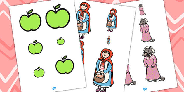 Little Red Riding Hood Size Ordering - size ordering, red riding
