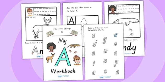 My Workbook A uppercase - letter formation, fine motor skills