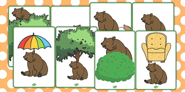 Where Is the Bear Picture Cards - where is the bear, picture cards, cards