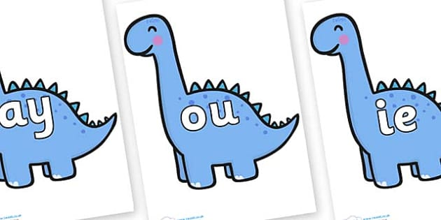 Phase 5 Phonemes on Diplodocus Dinosaurs - Phonemes, phoneme, Phase 5, Phase five, Foundation, Literacy, Letters and Sounds, DfES, display
