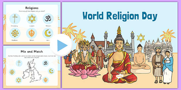 World Religion Day Assembly - world religion day, presentation, script, pack, assembly