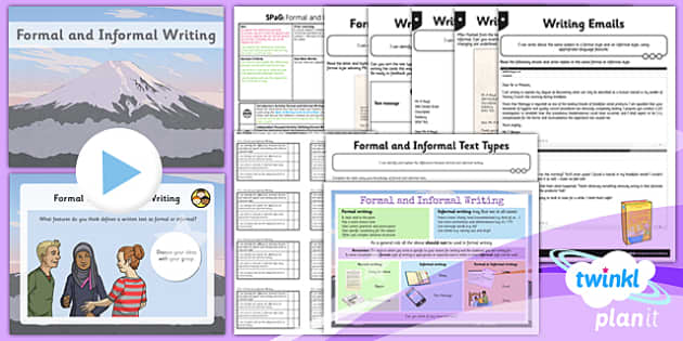 PlanIt Y6 SPaG Lesson Pack: Formal and Informal Writing - planit, spag, formal, informal