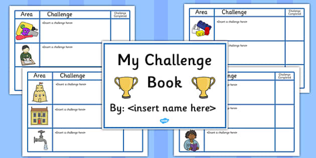 Editable Challenge Book - editable, challenge, book, booklet