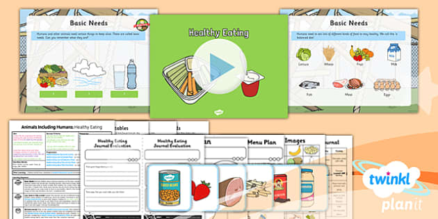 PlanIt - Science Year 2 - Animals Including Humans Lesson 4: Healthy Eating Lesson Pack