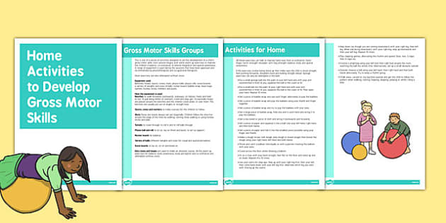 Activities for Home Use Gross Motor Skills Activities - gross