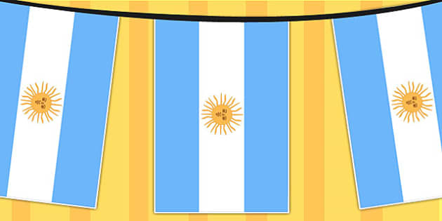 Argentina A4 Flag Bunting - countries, geography, flags, country