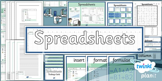 PlanIt - Computing Year 6 - Spreadsheets Unit Additional Resources