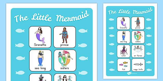 The Little Mermaid Vocabulary Poster - australia, little mermaid