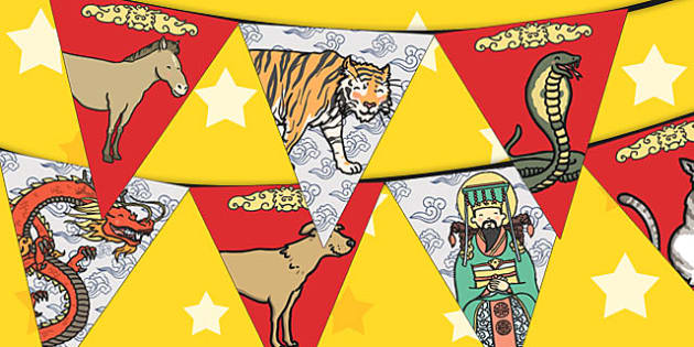 Chinese New Year Story Bunting - bunting, story, chinese new year