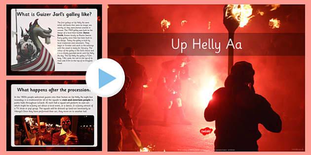 Up Helly Aa PowerPoint - CfE, Vikings, Scotland, Shetland, fire festival, longship