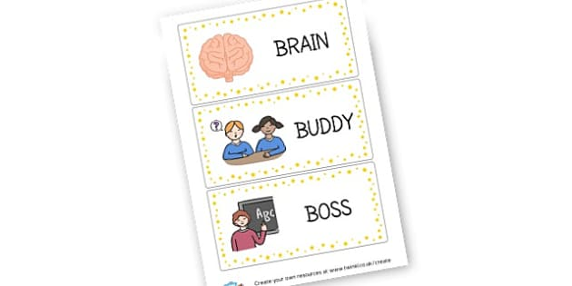 Brain Buddy Boss Poster - Rules and Behaviour Display Primary Resources, Rules, Behaviour