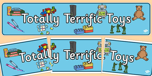 Totally Terrific Toys Display Banner - terrific, toys, display banner