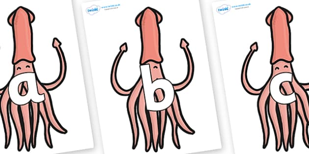 Phoneme Set on Squids - Phoneme set, phonemes, phoneme, Letters and Sounds, DfES, display, Phase 1, Phase 2, Phase 3, Phase 5, Foundation, Literacy