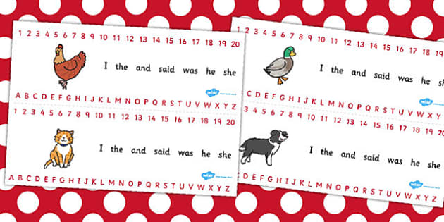 The Little Red Hen Combined Number and Alphabet Strips - red hen