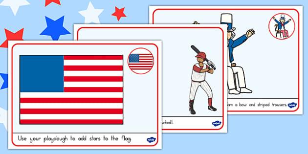 Independence Day Playdough Mats - independence day, Playdough mats
