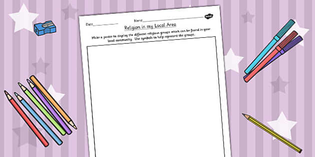 Religious Groups in the Community Activity - RE, religion, belong