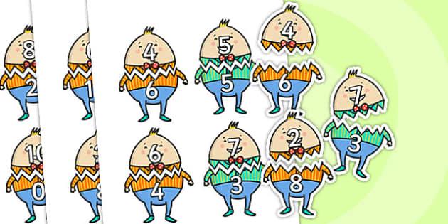 Humpty Dumpty Number Bonds to Ten - humpty dumpty, number bonds, number bonds to ten, humpty dumpty number bonds, humpty dumpty themed