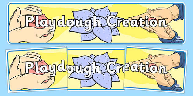 Playdough Creation Display Banner - playdough creation, playdough, creation, display banner, display, banner