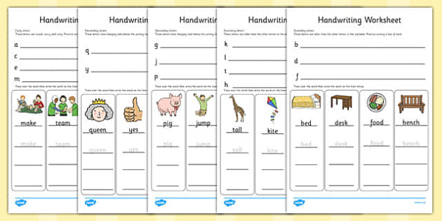 Letter Formation Worksheets (a-z) - Handwriting, letter