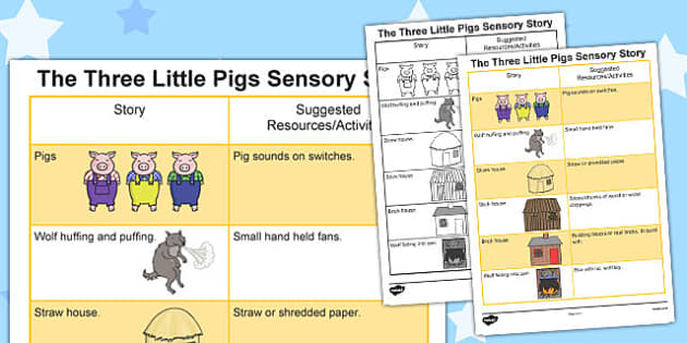 The Three Little Pigs Sensory Story - australia, sensory story, sensory, story
