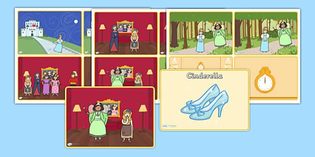 Cinderella Story Sequencing - cinderella, cinderella story sequencing, traditional tales, cinderella story sequencing cards, cinderella story cards