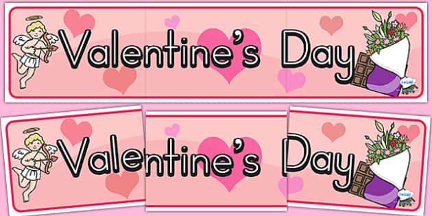 Valentine's Day Display Banner - valentines day, banner, display