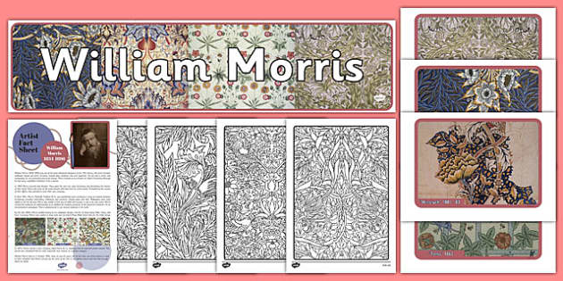William Morris Artist Inspiration, artists, mindfulness, adult education, art, victorian, 19th century