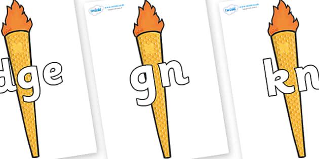 Silent Letters on Torches - Silent Letters, silent letter, letter blend, consonant, consonants, digraph, trigraph, A-Z letters, literacy, alphabet, letters, alternative sounds