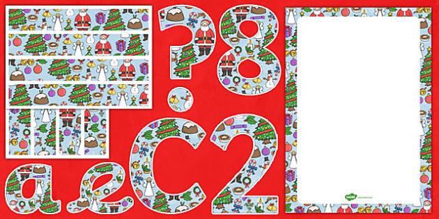 Christmas Themed Complete Editable Display Pack - christmas, editable, display pack