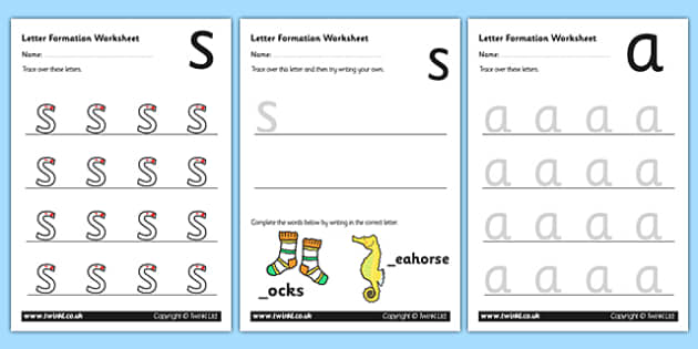 Worksheets Letter Formation Worksheets phase 2 letter formation worksheets two letter