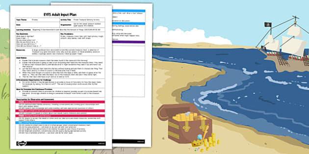 Pirate Treasure Sensory Activity EYFS Adult Input Plan - plan