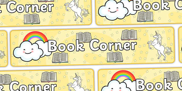 Book Corner Display Banner - Classroom Area Signs, KS1, Book Area, Book Corner, Library, Banner, Foundation Stage Area Signs, Classroom labels, Area labels, Area Signs, Classroom Areas, Poster, Display, Areas