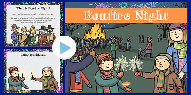 EYFS All About Bonfire Night PowerPoint - fireworks, EYFS