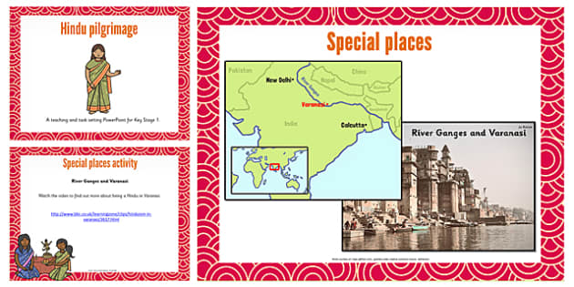 KS1 Hindu Pilgrimage Teaching and Task Setting PowerPoint - Hindu