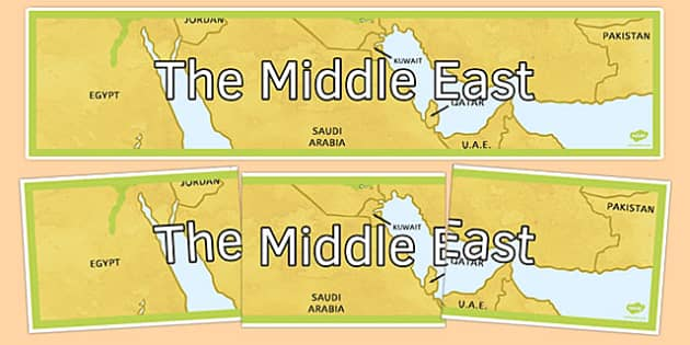 The Middle East Display Banner - the middle east, display banner, display, banner, geography