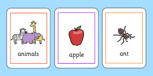 Initial a Sound Playing Cards - phonics, letters and sounds, phonemes, phase 2, EYFS