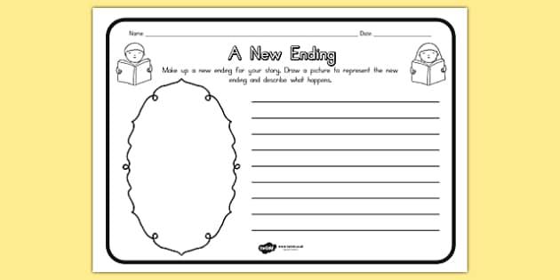 A New Ending Comprehension Worksheet - australia, ending, sheet