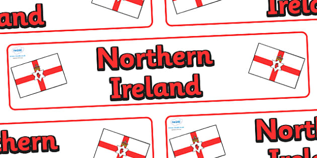 Northern Ireland Display Banner - Northern Ireland, Olympics, Olympic Games, sports, Olympic, London, 2012, display, banner, sign, poster, activity, Olympic torch, flag, countries, medal, Olympic Rings, mascots, flame, compete, events, tennis, athlet