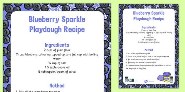 Blueberry Sparkle Playdough Recipe - blueberry sparkle, playdough, recipe