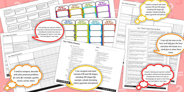 2014 Curriculum KS1 Maths Assessment Pack - targets, numeracy