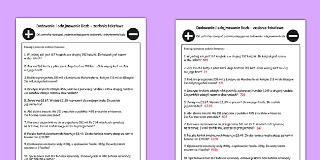 Common Worksheets » Addition And Subtraction Word Problem ...
