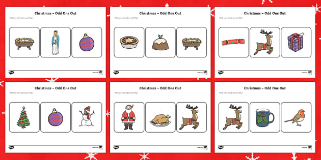 Christmas Odd One Out Activity Sheet
