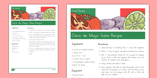 Cinco de Mayo Salsa Recipe - usa, america, cinco de mayo, salsa recipe, salsa, recipe